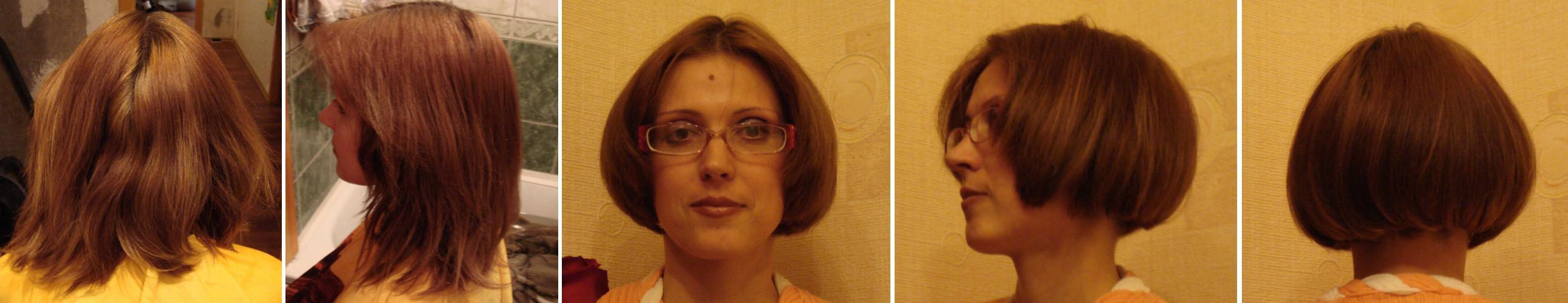 Как самой себе подстричь волосы - боб и каре фото стрижек 46